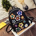 2017 Japanese Style Personalized Flowers Sweet Style Leather Women's Casual Daypacks School Bags For Teenager Rucksacks Mochila