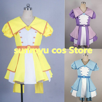 Free Shipping!Ojamajo Doremi Dokka~n! Asuka Momoko Senoo Aiko Segawa Onpu Cosplay Costume,Size and Color customizable
