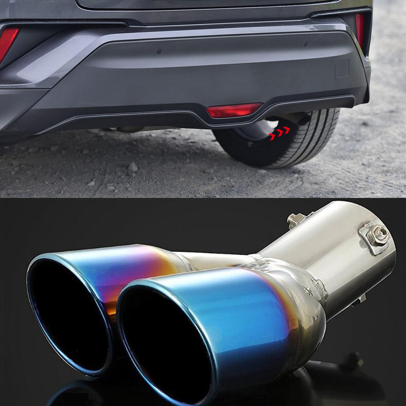 Stainless steel Rear Exhaust Muffler Tip End Pipe 1pcs For Toyota C-HR 2016-2019