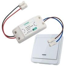 цена на AC 220V Smart Remote Control Switch 1 Gang Relay Module Lamp LED Controller Wall Panel RF Chain Gadgets 1 Button Kit KTNNKG