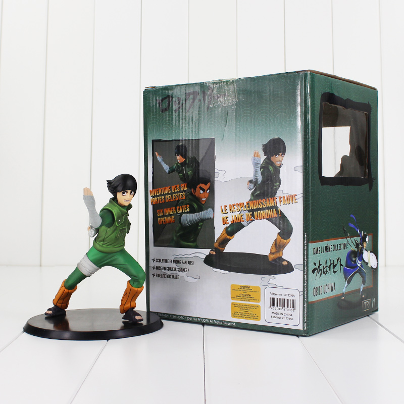 Naruto Rock Lee PVC Action Figures Toys 14cm Japanese Anime Collection Model Doll with color box kids Christmas Gift new arrival ailaiki action figures toys anime moose trash pack dolls kids playing garbage mini doll christmas gift 20pcs lot free shipping