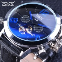 Jaragar Racing Sport Military Wrist Watch Fashion Blue Dial 50mm Big Dial Design Mens Watches Top