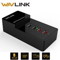 Wavlink 38 Watt 4-Port Ladegerät USB3.0 Ladestation Zwei Ladeanschluss Abnehmbaren USB Hub für iPhone iPad Android