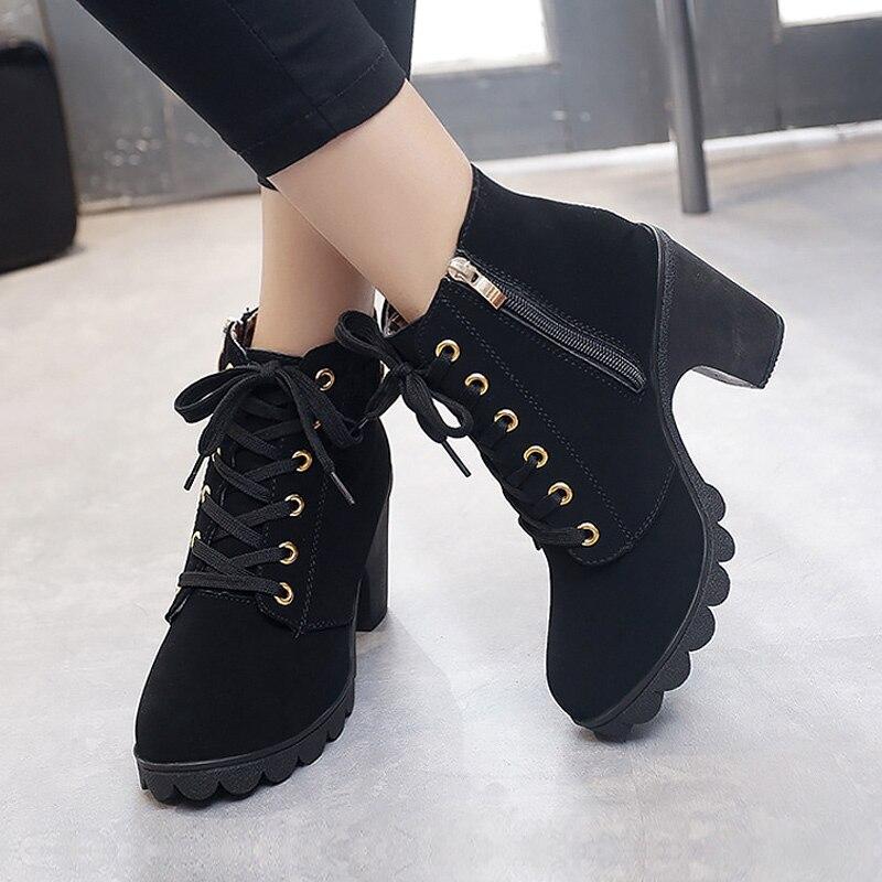 Moon Black High Heeled Boots 2