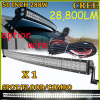 Free DHL UPS Fedex Ship 50 288W 28800LM 10 30V 6500K LED Working Bar Curved Option