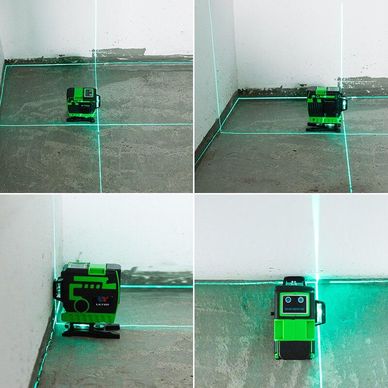 New leter laser level Leveling laser Line Landing instrument 3D laser