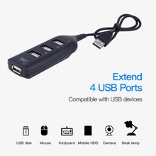 Новый 4 порта Высокоскоростной Micro Mini USB 2,0 концентратор переходник разветвитель для ноутбук Laptop персональный компьютер приемник компьютерная периферийная комплектующие