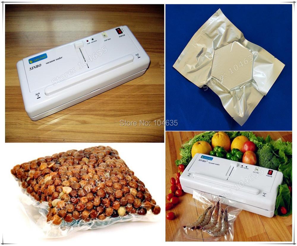 Envasadora al vacio de alimentos vakum plastik torba kesme makinesi ambalaj vakum poşeti gıda vakum makinesi