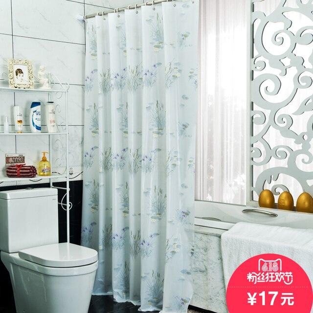 Bathroom Partition mildew proof waterproof bath curtain bathroom partition door