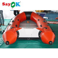 Cheap rigid inflatable kayak boat inflatable drifting boat aluminium floor inflatable boat 4 person