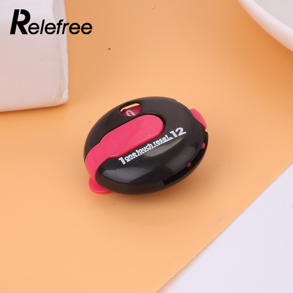 Plastic Score Golf Accessories Stroke Counter One Key Reset Scorekeeper Portable golf score counter golf accessories