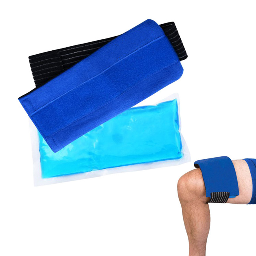Soft Lightweight Elastic Body Reusable Pain Relief Knee Wrist Gel Wrap Hot And Cold Shoulder Portable With Strap Ice Pack Set