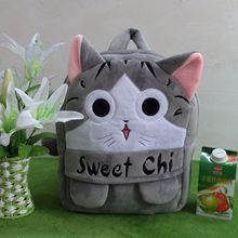Новые прекрасные дети мультфильм Животные плюшевые рюкзаки мягкую игрушку сумки на плечо для детского сада-Сладкий чи Cat дети подарки на день рождения
