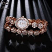 Xinge Brand High Quality 2018 Fashion Luxury Rose Gold Watches Women Ladies Zircon Bracelet Wristwatches Dress