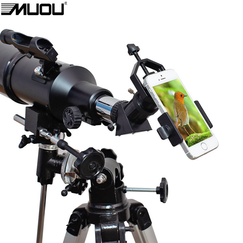 Black Smart Phone Lens Adapter Bracket For Photography Astronomical Binocular Monocular Telescope Mount microscope Universal