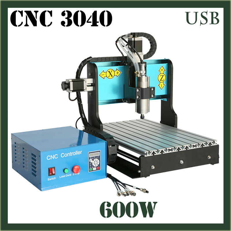 JFT CNC 3040 600W 3 Axis With USB 2.0 Port 3D Engraving Machine Routers Woodworking Mini Woodworking Machine PVC Mill Engraver  jft 3d mini woodworking machine with usb 2 0 port 600w 3 axis cnc routers with water tank for drilling engraving 3040