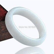 Hermosa Natural Genuine blanco Jade Bracelet Bangle real Jade blanco de piedra de los brazaletes moda mujer joyería 56 – 62 mm