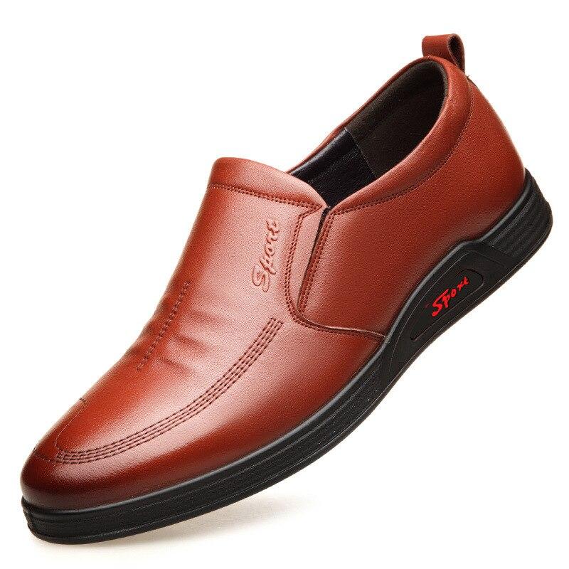 skid Sapatos Cabeça Ar Mens Nova 1981 Casual Anti preto Moda Masculina Brown Redonda permeável De Couro SHapOq0w