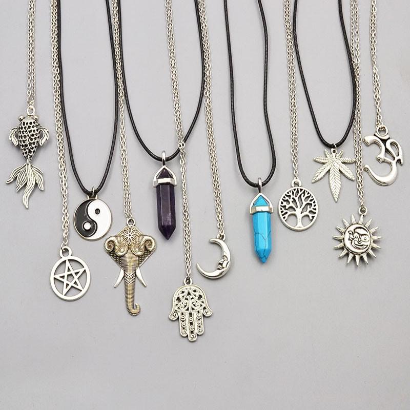 New Mix Design Pendant Necklace