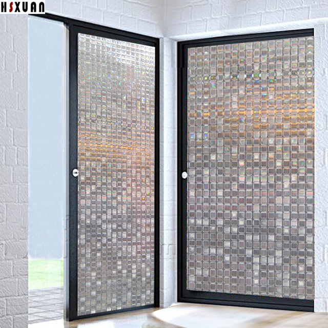 Merveilleux Pvc Mosaic Tint Window Stickers 90x100cm Decorative Sliding Glass Door  Self Adhesive Window Privacy Films