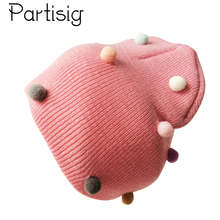 Baby Caps Crochet Kids Girls Pompom Hat Winter Beanie Hats For Girls Children Hats Caps недорого