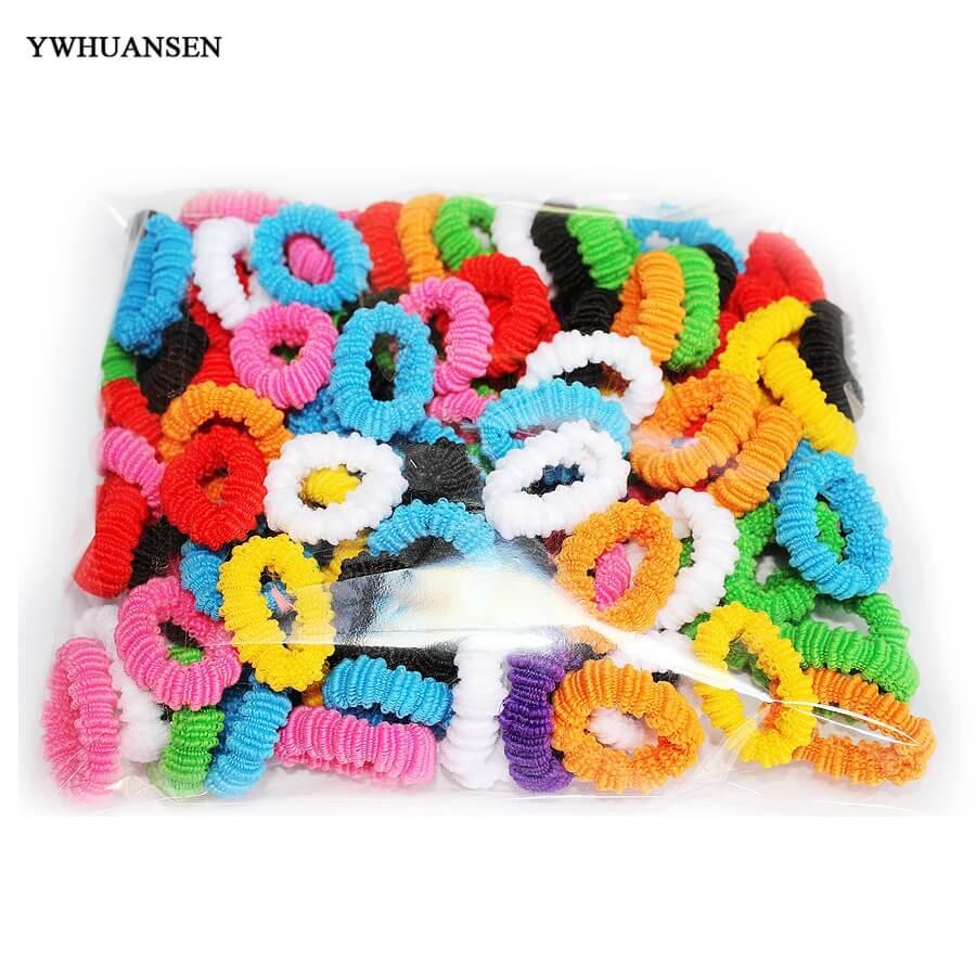 100pcs 3.5cm Beautiful Hair Accessories For Baby Hair Bands Hair Rope Kids Hair Bows Girls Scrunchy For Children Girls