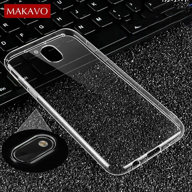 Makavo Премиум чехол для ТПУ Samsung <font><b>Galaxy</b></font> <font><b>J3</b></font> J5 J7 2017 ЕС тонкий прозрачный силиконовый мягкая задняя крышка ясно Телефонные чехлы