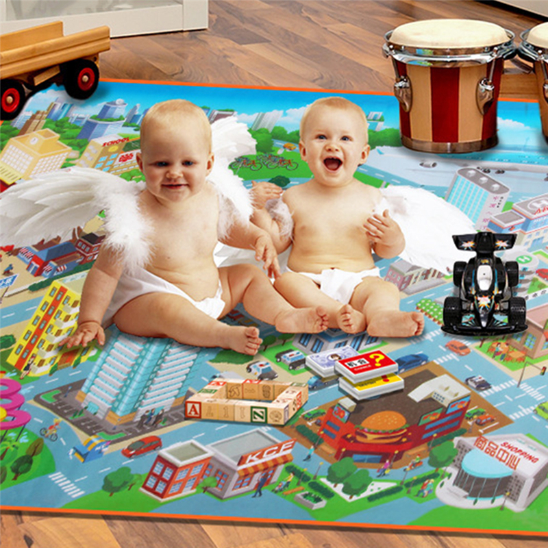 Early Education Traffic Map Toddler Crawling Mat Baby Climbing Blanket in the Living Room cartoon mat ...