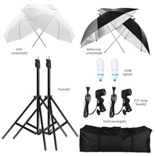 2 pcs 135W Photography Photo Video Portrait Studio Day Light Umbrella Continuous Lighting Kit