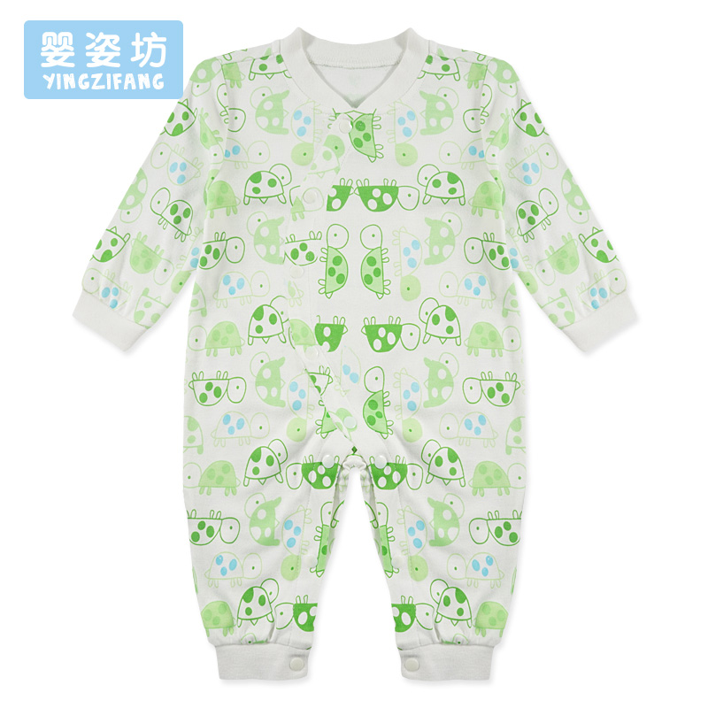 Yingzifang Baby Boys Girls Rompers Cute Cartoon Tortoise Single Breasted Long Sleeve Newborn Baby Infant Spring Jumpsuits Romper newborn baby rompers baby clothing 100% cotton infant jumpsuit ropa bebe long sleeve girl boys rompers costumes baby romper