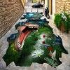 Custom 3D Stereo Outdoor Floor Painting Primitive Dinosaur Photo Wall Mural Wallpaper Wear Non Slip Waterproof