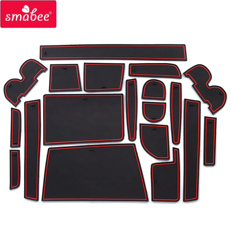 Smabee Porte fente tapis Pour TOYOTA VOXY/NOAH 70 ZRR7 # G/W 2007-2013 Accessoires, 3D En Caoutchouc Tapis De Voiture ROUGE BLANC NOIR