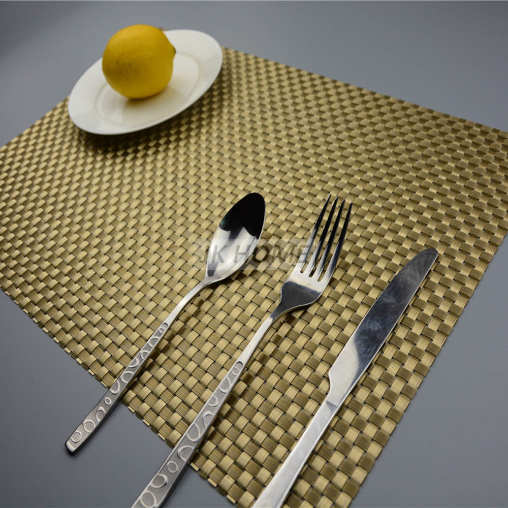 JANKNG 4Pcs/lot Luxury Dinner Placemats PVC Place Table Mats Best Gold Silver Tableware Dinnerware Kitchen Table Pads Tools-in Mats u0026 Pads from Home ... & JANKNG 4Pcs/lot Luxury Dinner Placemats PVC Place Table Mats Best ...