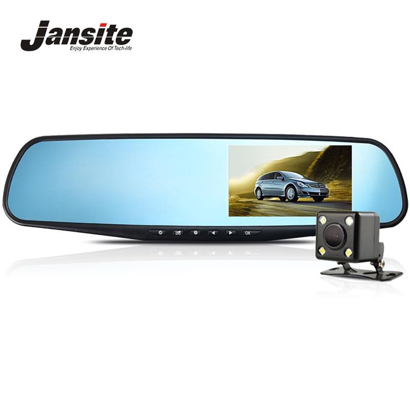 Prix pour Jansite Full HD 1080 P Voiture Dvr Caméra Night Vision 4.3 Pouce Rétroviseur Numérique Vidéo Enregistreur Double Lentille Greffier caméscope