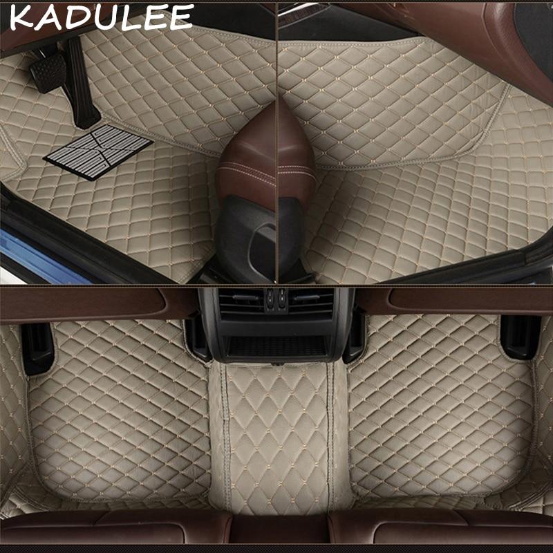 KADULEE PU tapis de sol en cuir pour Chrysler PT Cruiser 2007-2015 2016 2017 2018 tampons de pied personnalisés tapis automobile bâches de voiture