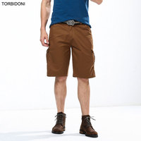 Summer New Casual Cargo Shorts Pants Men Straight Fit Fashion Multi Pockets Bermuda England Style Business