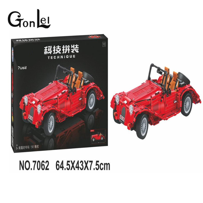 GonLeI 7062 1141pcs Lepin Technic convertible car building bricks blocks toys for children Boy Game Bela evenflo momentum dlx convertible car seat