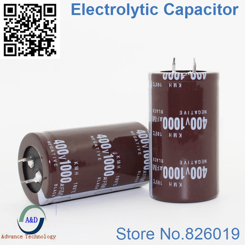 2pcs/lot 400v 1000uf Radial DIP Aluminum Electrolytic Capacitors Size 35*60 1000uf 400v Tolerance 20%