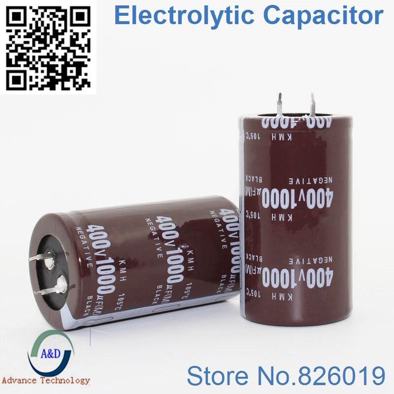 2pcs/lot 400v 1000uf Radial DIP Aluminum Electrolytic Capacitors Size 35*60 1000uf 400v Tolerance 20%