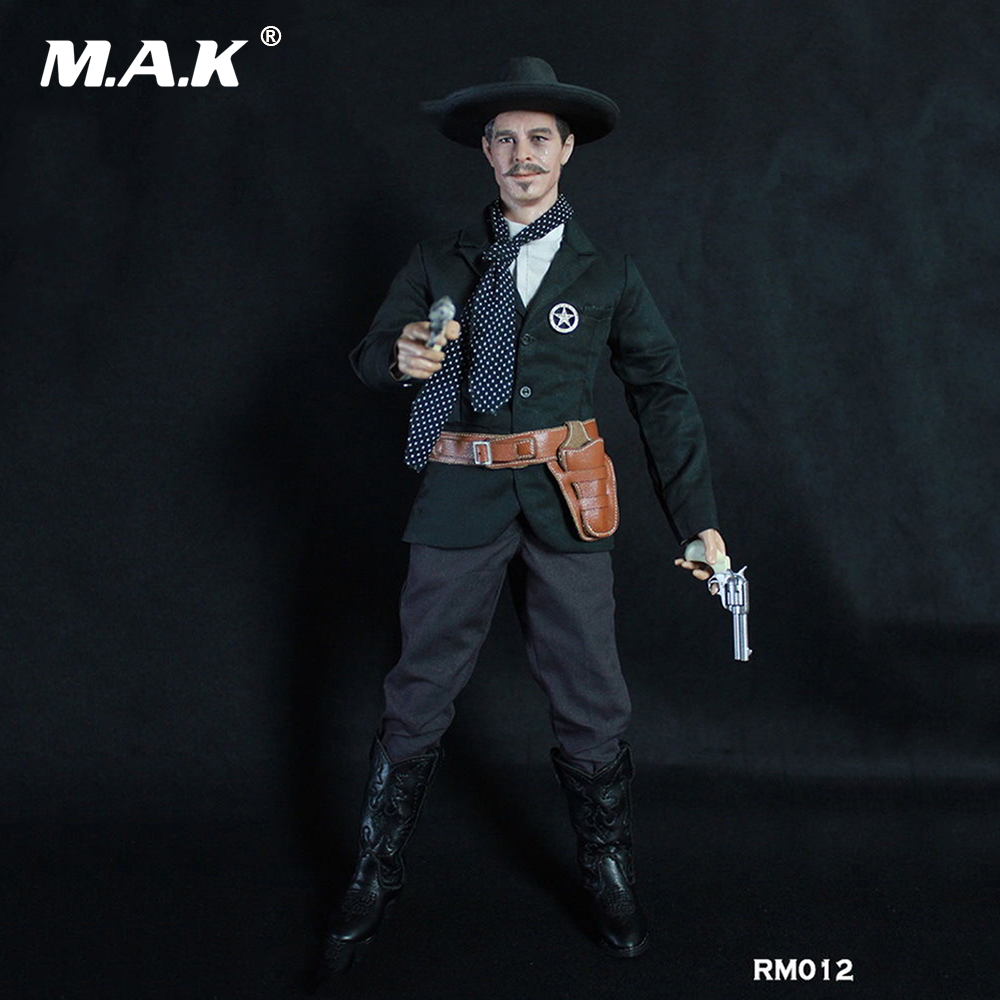Collectible Model Toys 1/6 Scale Male Full Set Action Figure Cowboy Light Coat Ver. Doc Holliday RM012 Box_Set Figure collectible model toys 1 6 scale male full set action figure cowboy light coat ver doc holliday rm012 box set figure