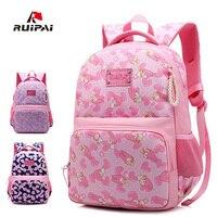 RUIPAI New Girl School Bag Waterproof Light Weight Girls Backpack Schoolbags Lovely Printing Backpack Kids Baby bags