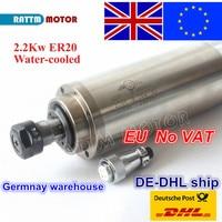 【EU 무료 VAT】 2.2KW 수냉식 CNC 스핀들 모터 ER20 220V 24000rpm 80x213mm CNC 라우터 조각 밀링 그라인딩 머신|cnc spindle|cnc spindle motorspindle motor -
