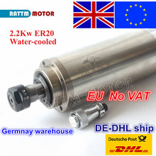 цена на From UK ,free shipping  2.2KW WATER-COOLED CNC SPINDLE MOTOR ENGRAVING MILLING GRIND 80x213mm ER20