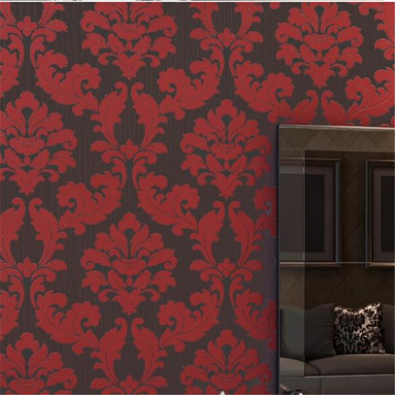beibehang papel parede European Velvet 3D Background mural Wallpaper for Living Room Wall paper Floral Wallcovering Roll Bedroom beibehang papel de parede pastoral environmental nonwovens wall paper warm small floral living room bedroom background wallpaper