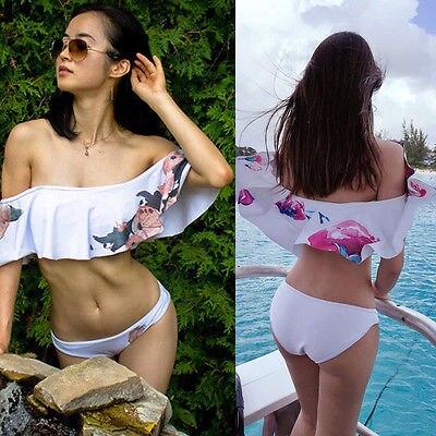 Ruffle Bikini Set Padded Off Shoulder Flounce swimsuit High Waist Biquini swimwear Stylish monokini bathing suit beachwear