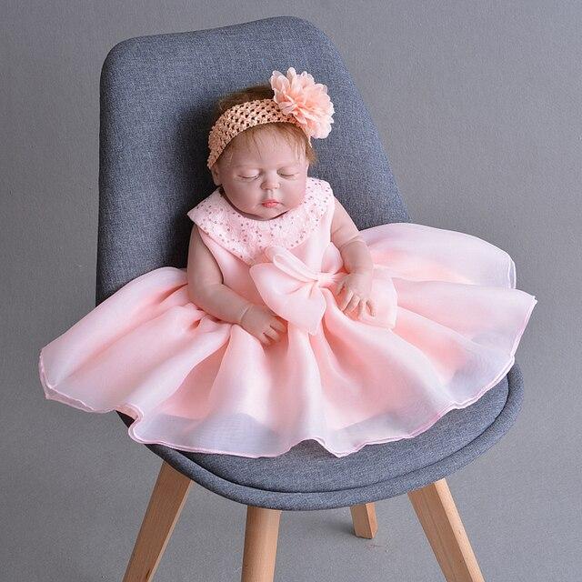 e31f76c540fa Christening Dress Pink Oganza Newborn Baby Girl Baptism Dress with ...