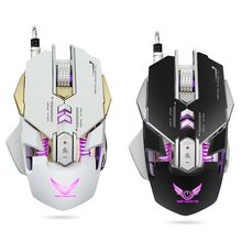 USB Wired Backlight Rechargeable Gaming Mouse LED Backlit 3200 DPI Adjustable Optical Mouse Gamer For PC Laptop