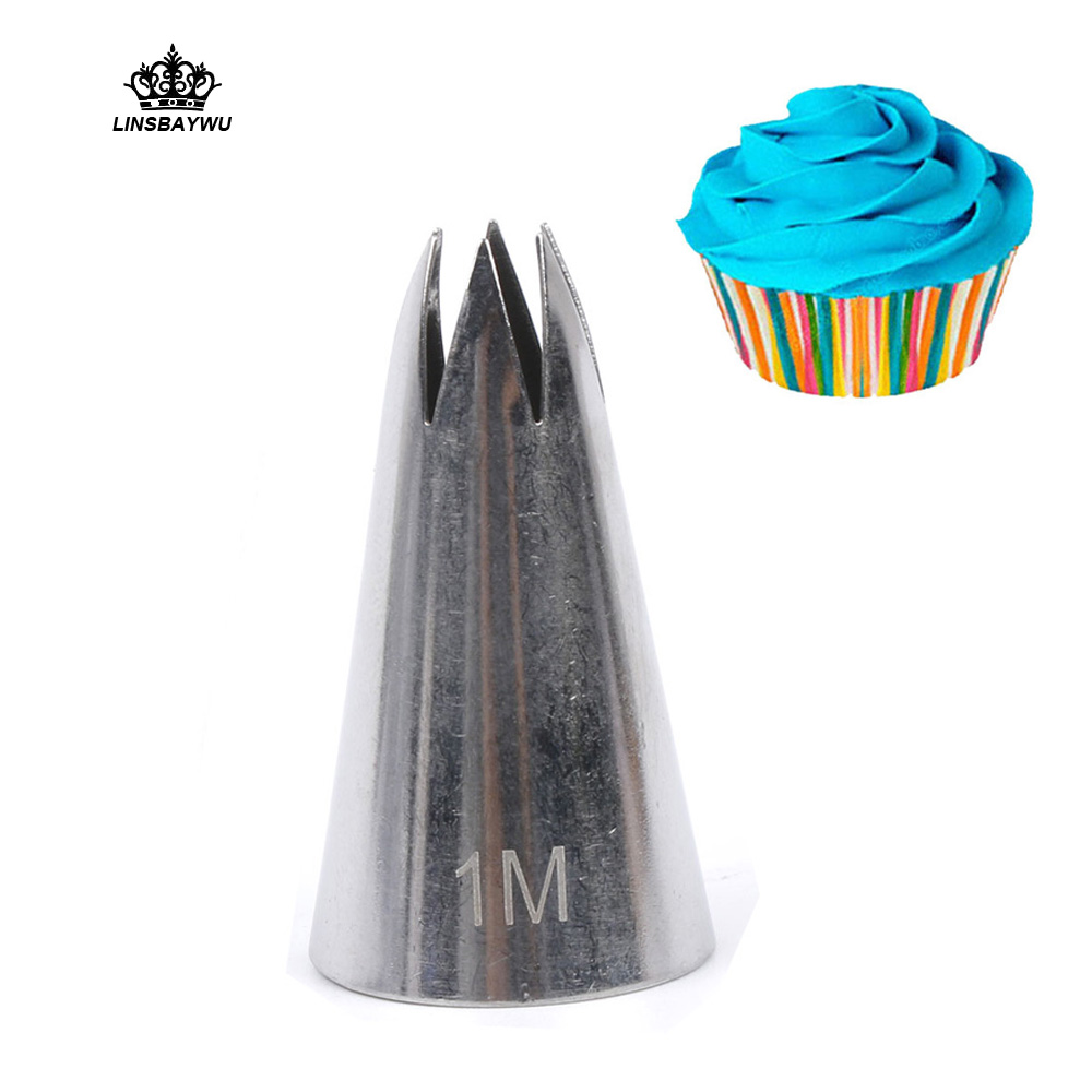 #1M Premium 304 Stainless Steel Piping Nozzles For Cream,Kitchen Baking Accessories For Cake Decorating Tools Icing Nozzles