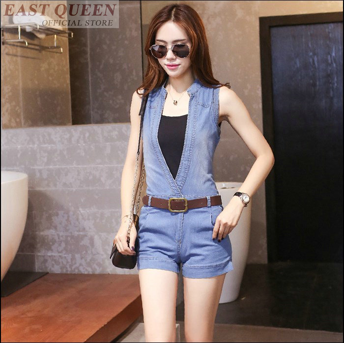Aliexpress.com : Buy Women sexy blue short jumpsuit denim ladies ...