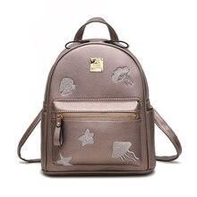 Мори печати цветочный дизайн Дамские туфли из PU искусственной кожи небольшой рюкзак многофункциональный повседневная женская сумка Trend Рюкзак Черный